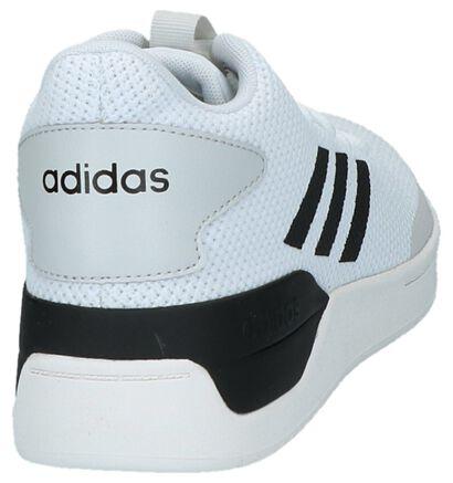 adidas Bball 80S Baskets en Blanc en textile (221625)