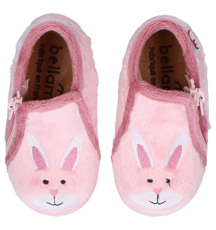 Bellamy Vagui Roze Pantoffels in stof (283981)