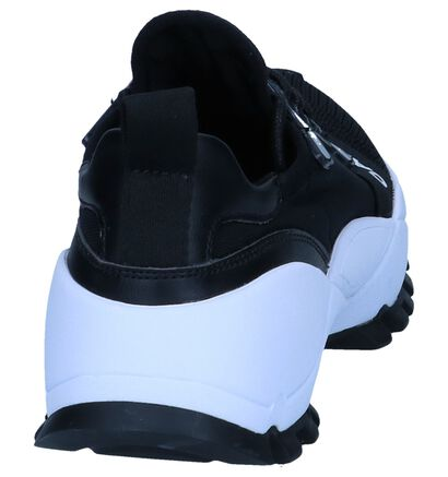 Zwarte Slip-on Sneakers Calvin Klein Talula in stof (241603)