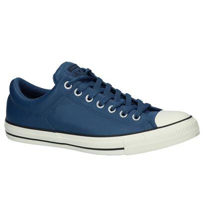 Converse Chuck Taylor All Star High Street Ox Blauwe Sneakers in leer (222248)