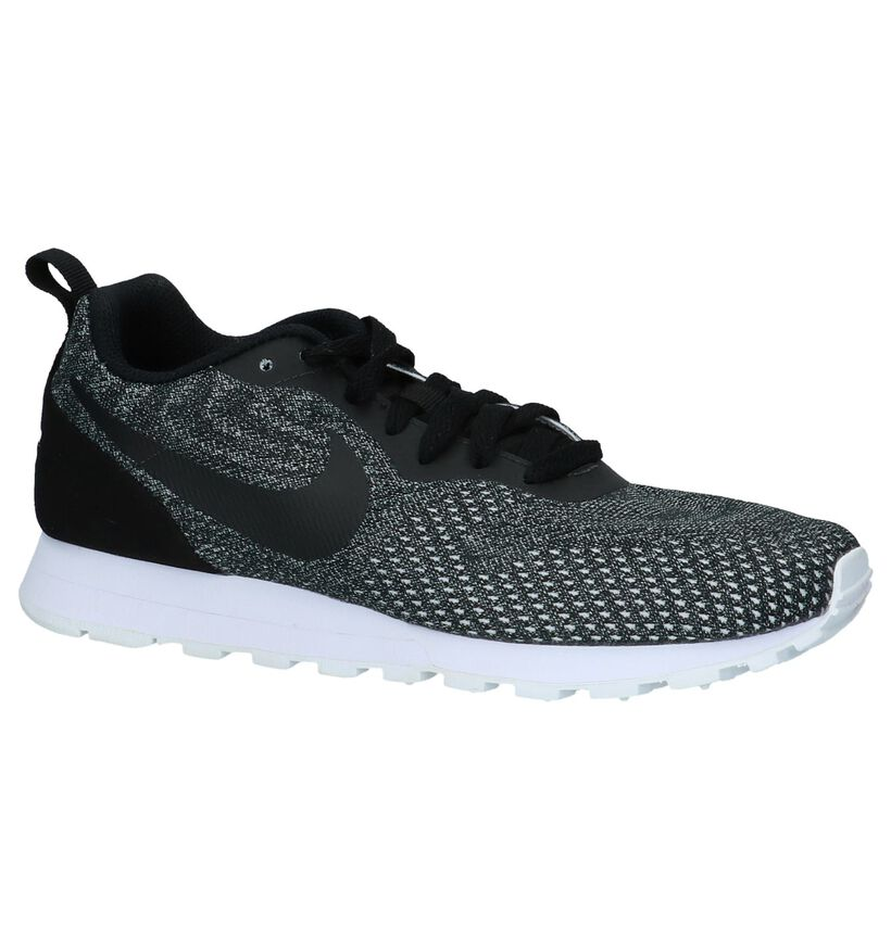 Nike MD Runner Baskets basses en Gris foncé en simili cuir (218319)