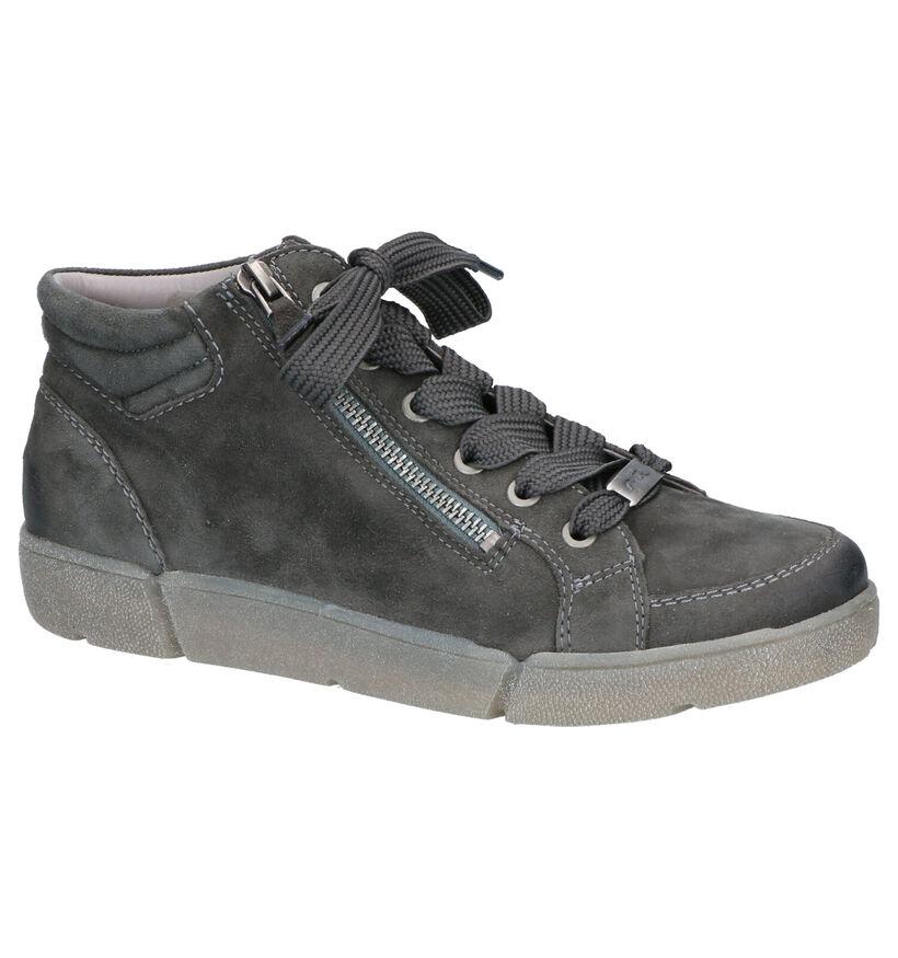 Ara High Soft Groene Boots in daim (260839)