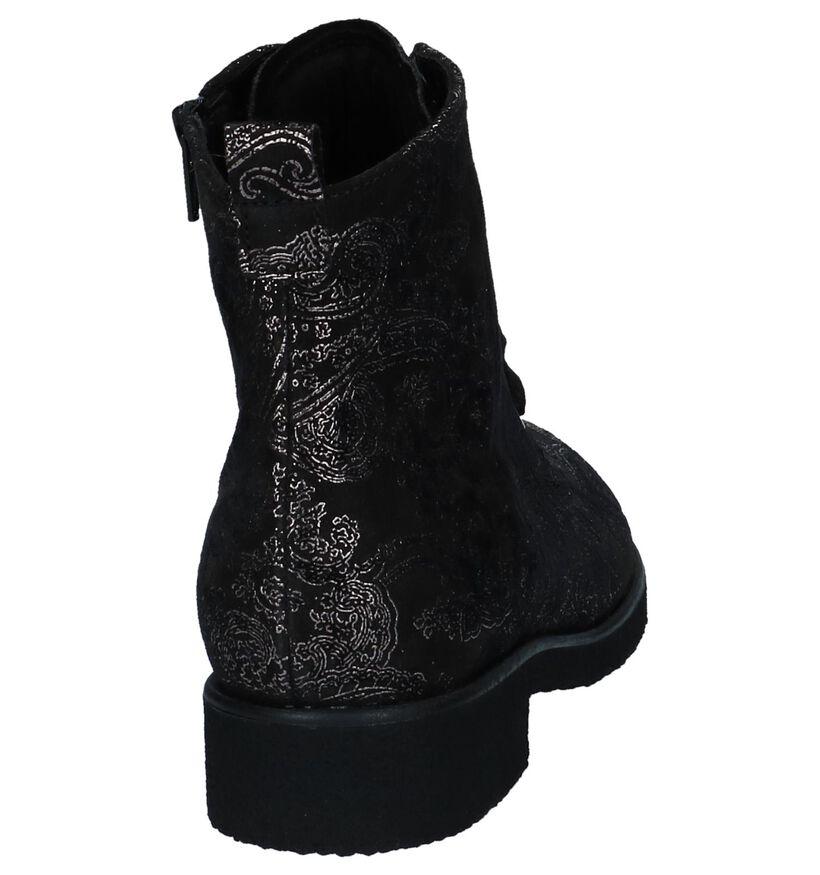 Gabor Boots Zwart in daim (231348)