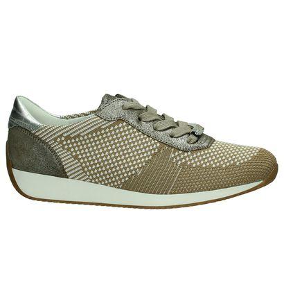 Geklede Sneakers Ara Lissabon Zwart, Beige, pdp