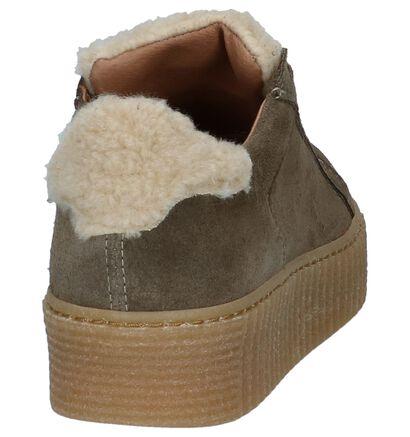 Scapa Kaki Sneakers Creepers, Groen, pdp