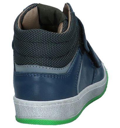 Donkerblauwe Boots met Velcro FR by Romagnoli in leer (223444)