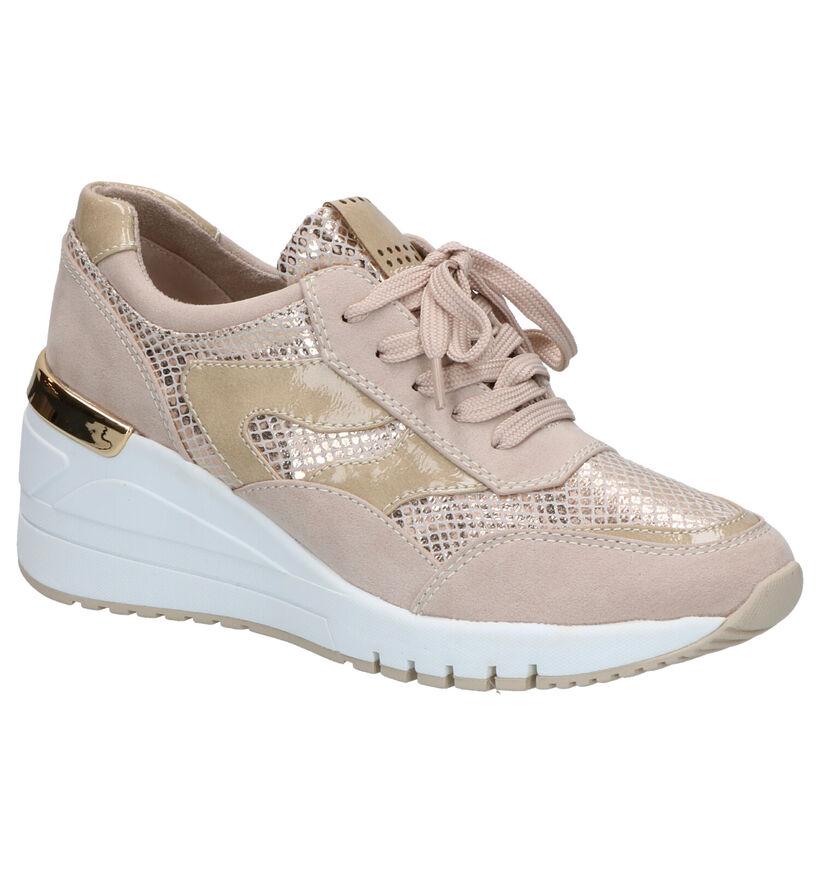 Youh! Relaxed Step Chaussures à lacets en Beige en simili cuir (271086)
