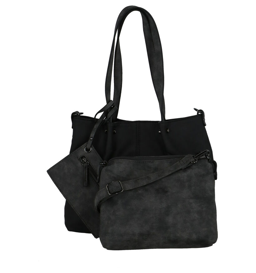Emily & Noah Bruine Bag in bag Schoudertas in kunstleer (282170)