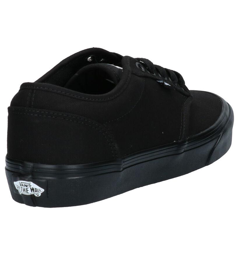 Vans Atwood Baskets de skate en Noir en textile (277681)