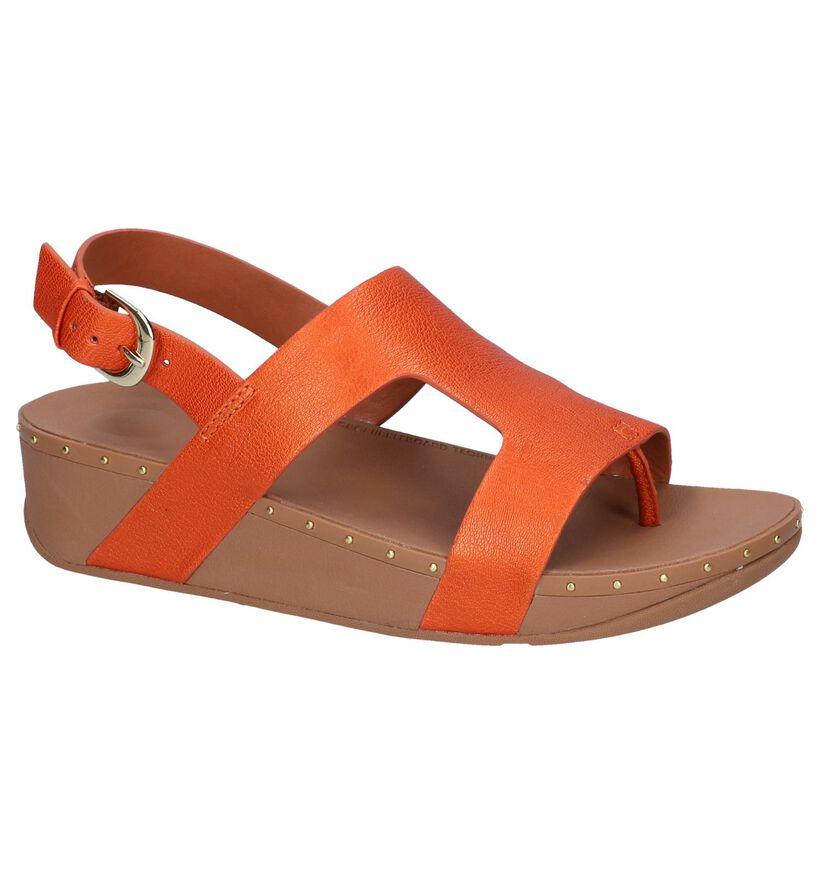 FitFlop Sandales à talons en Orange clair en cuir (240192)
