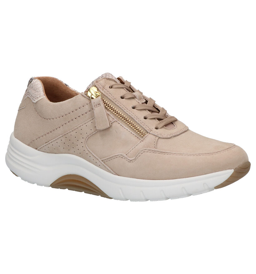 Gabor Rollingsoft Chaussures à lacets en Beige en daim (271526)