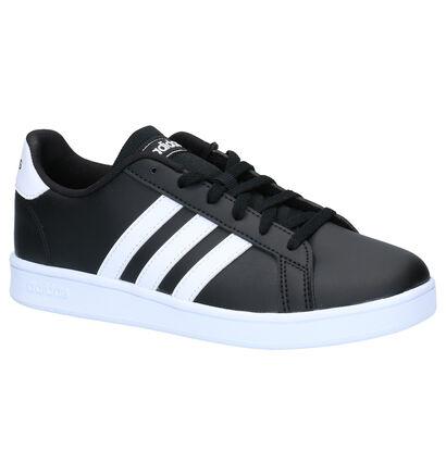 adidas Grand Court Zwarte Sneakers in imitatieleer (252544)