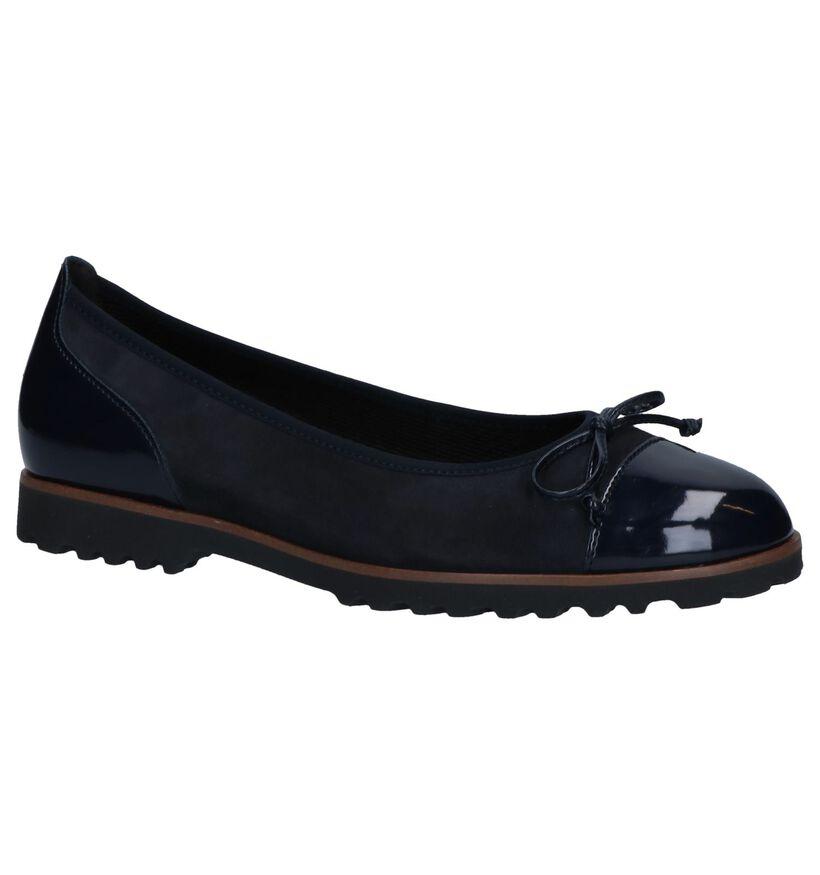 Gabor Ballerines en Bleu foncé en cuir verni (254014)