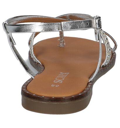 Scapa Cyprus Zilveren Sandalen in kunstleer (215487)