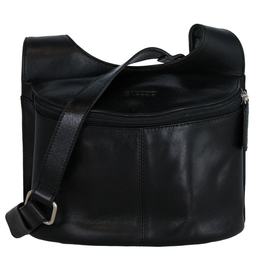 Saccoo Toro Sac porté croisé en Noir en cuir (283612)
