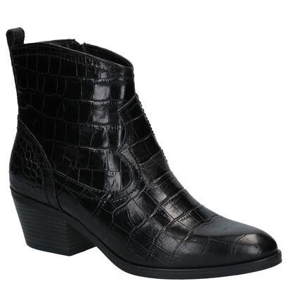 Tamaris Bottillons en Noir en cuir (273179)