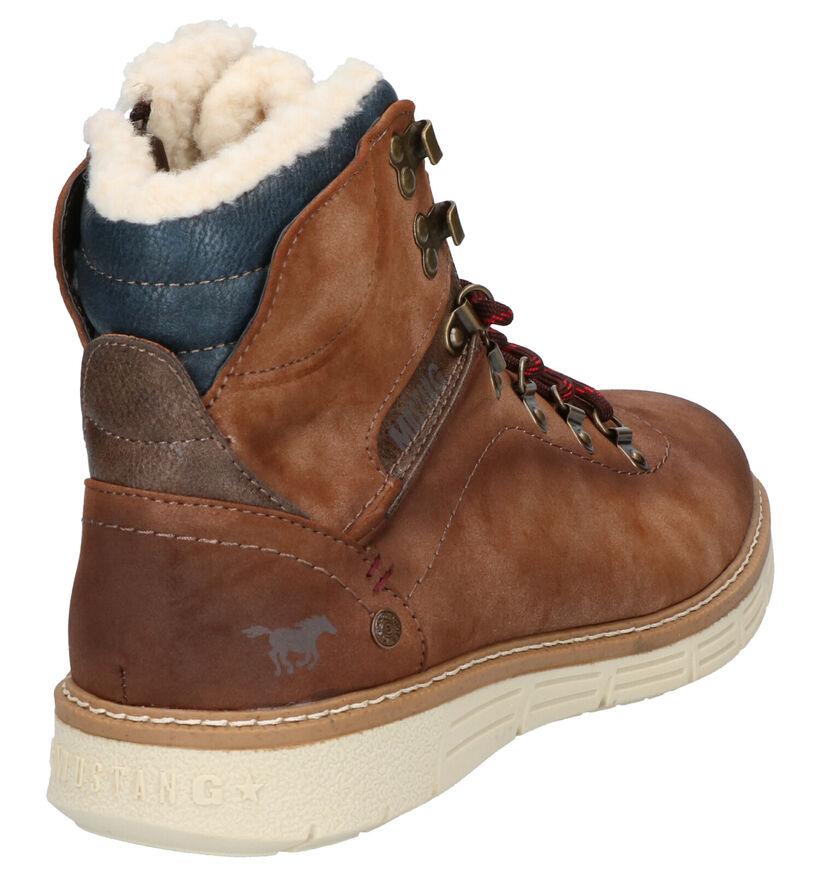 Mustang Bruine Boots in kunstleer (260331)