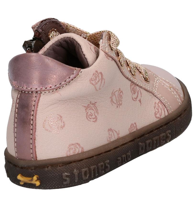 STONES and BONES Bema Chaussures enfants en Rose en cuir (279313)
