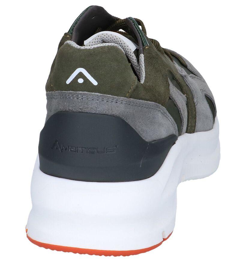 Kaki Sneakers Ambitious in daim (239156)