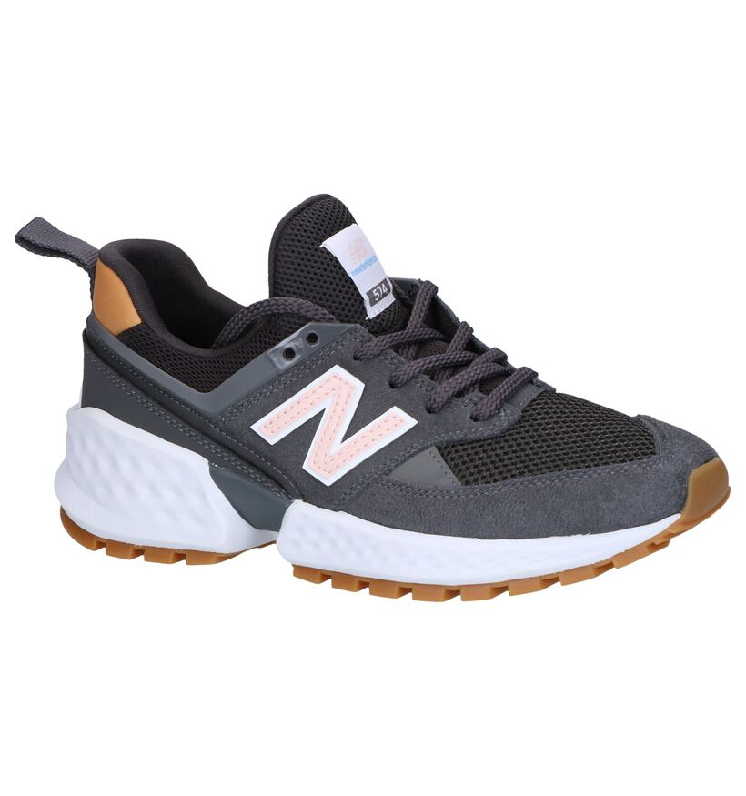 Grijze Sneakers New Balance in daim (249887)