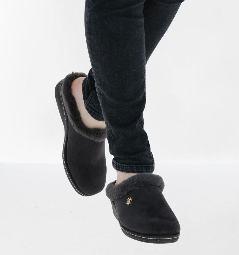 Scapa Grijze Pantoffels in stof (281270)