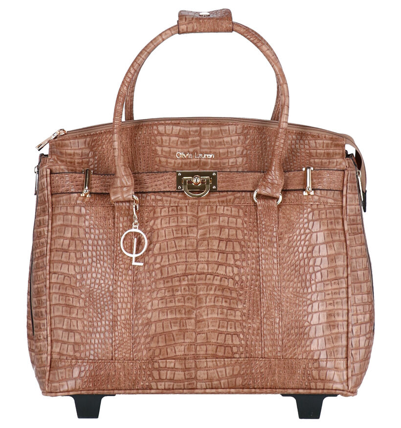 Olivia Lauren Manon Cognac Trolley in kunstleer (283516)