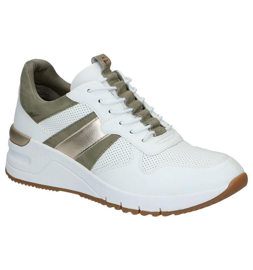 Tamaris Witte Slip-on Sneakers in kunstleer (291678)