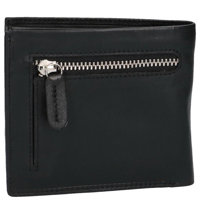 Euro-Leather Portefeuilles en Noir en cuir (250639)