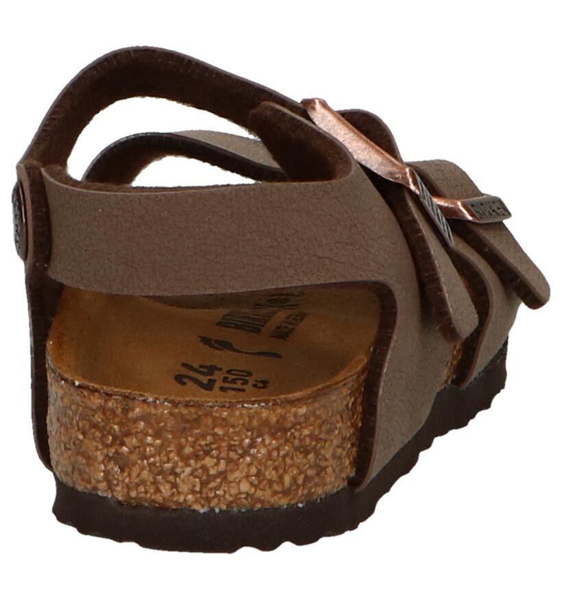 Birkenstock New York Sandales en Brun en simili cuir (271830)