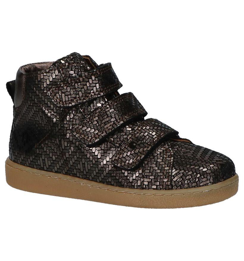 Bisgaard Bronzen Boots met Velcro in leer (235991)