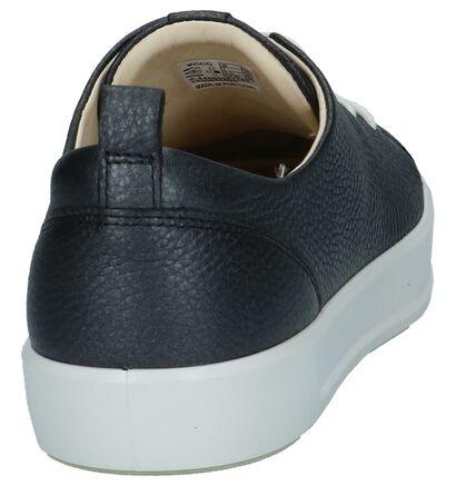 ECCO Soft 8 Metallic Grijze Sneakers in leer (235723)