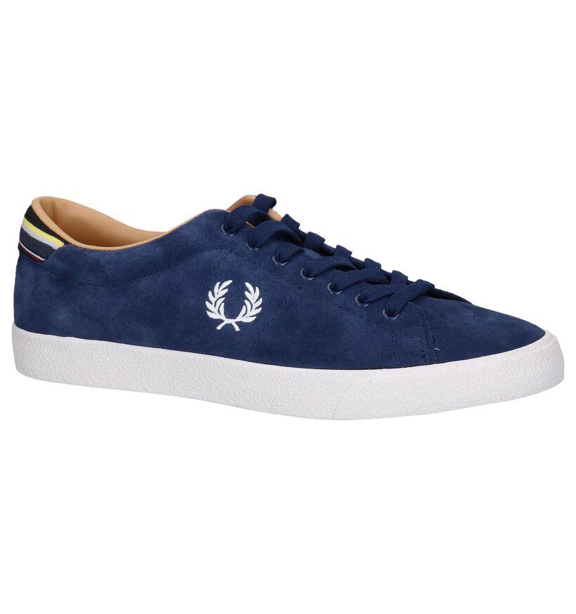 Donkerblauwe Sneakers Fred Perry in daim (251630)