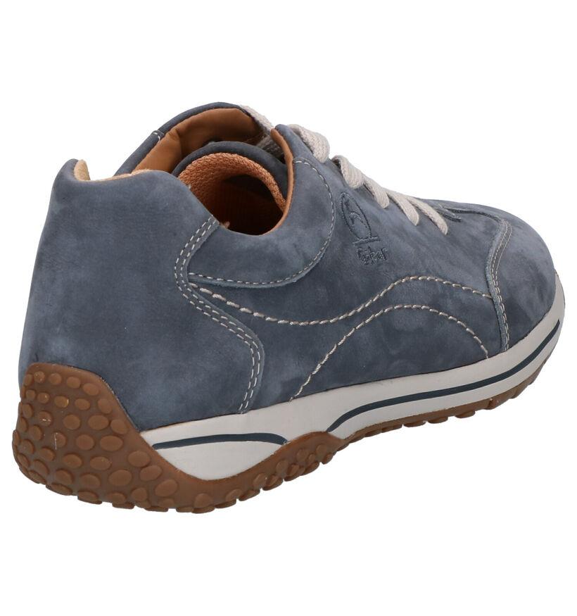 Gabor OptiFit Chaussures à Lacets en Bleu en nubuck (271565)