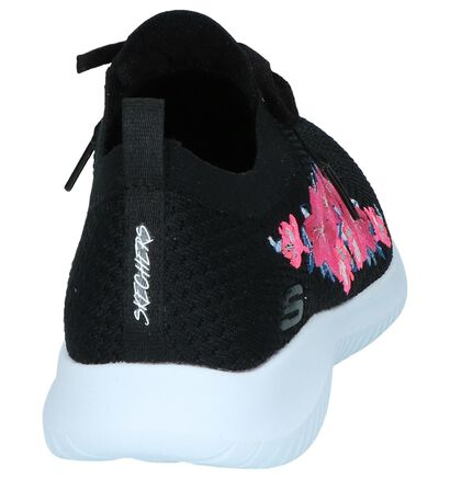 Witte Slip-on Sneakers Skechers Ultra Flex, Zwart, pdp