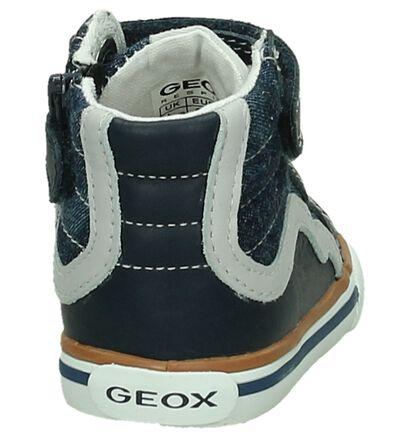 Geox Blauwe Babysneakers met Rits/Veter, Blauw, pdp