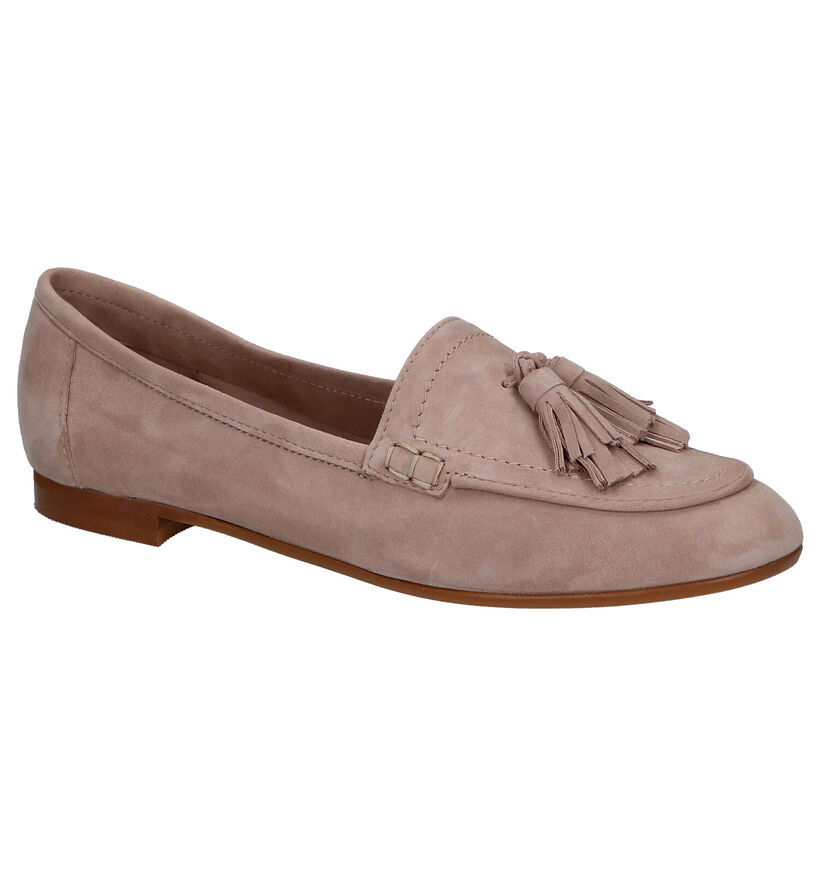 River Woods Loafers en Taupe en nubuck (289202)