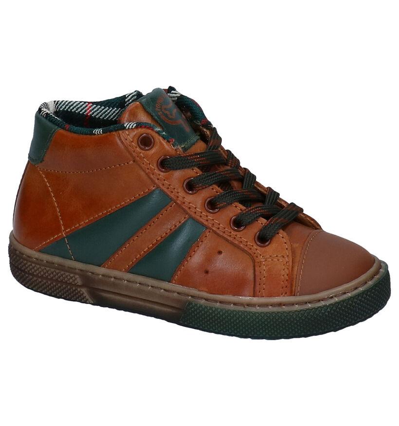 STONES and BONES Rekko Chaussures en Cognac en cuir (278900)