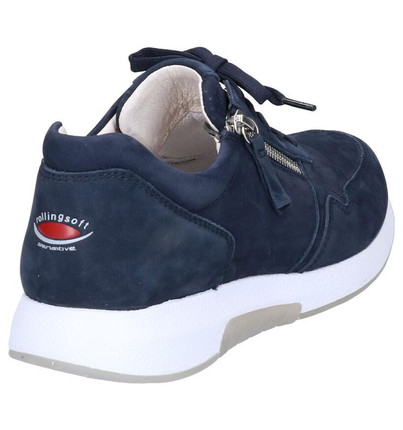 Gabor Rollingsoft Donkerblauwe Sneakers in nubuck (271525)