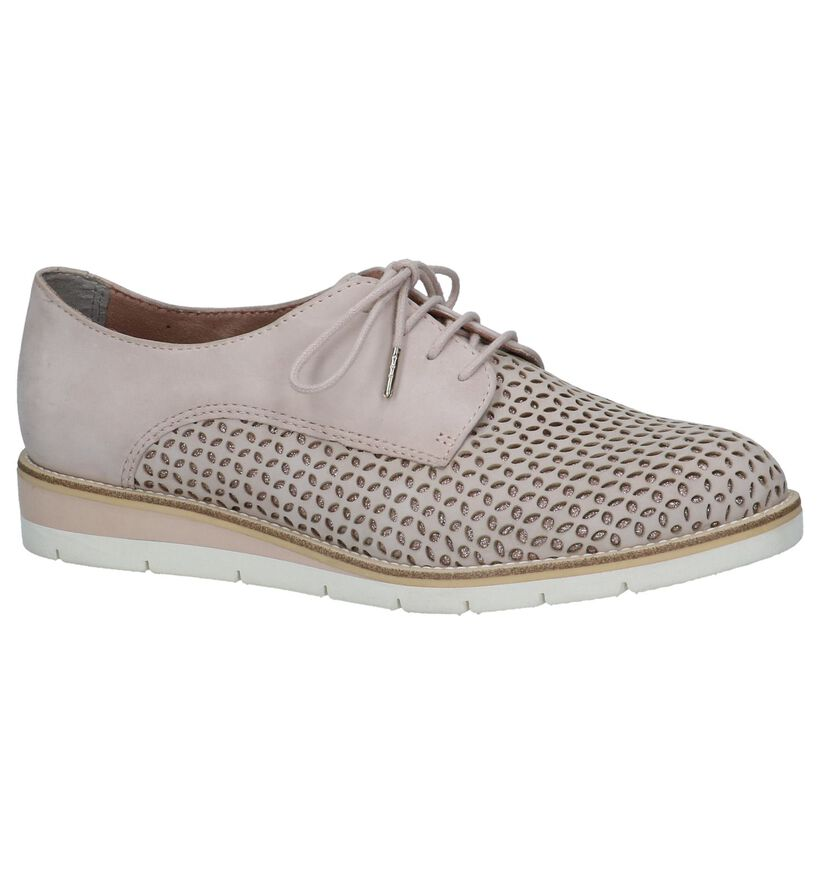 Tamaris TOUCH it Oxford Veterschoenen Lichtroze in nubuck (237706)
