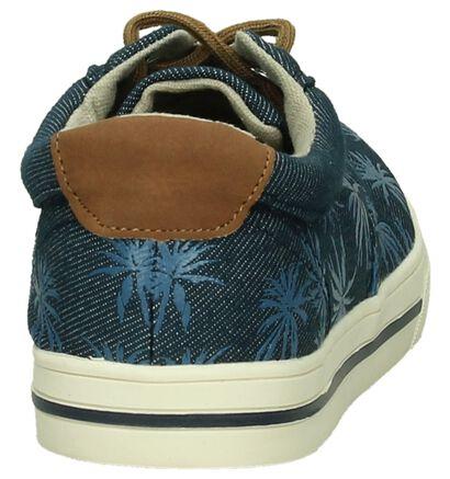 Donker Blauwe Sneaker Ghost Rockers met Palmbomen, Blauw, pdp