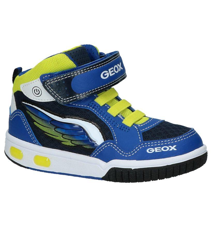 Geox Baskets hautes en Bleu en simili cuir (210533)