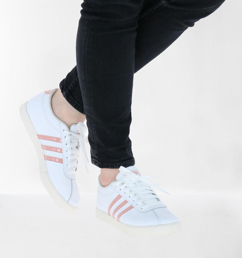 adidas Courtset Witte Sneakers in kunstleer (273045)
