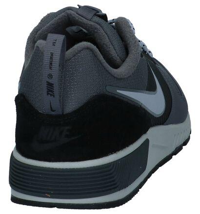 Nike Nightgazer Baskets basses en Gris foncé en textile (233341)