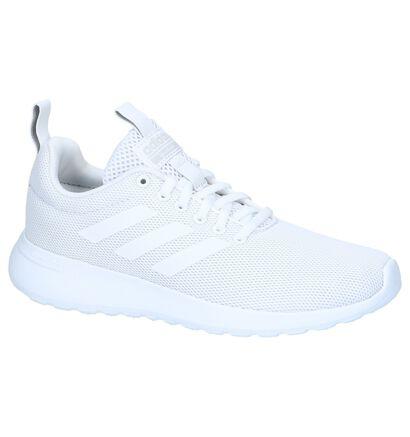 adidas Lite Racer Baskets basses en Blanc en textile (237026)