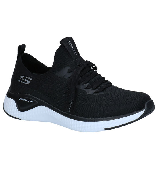 Skechers Stretch Fit Baskets slip-on en Noir