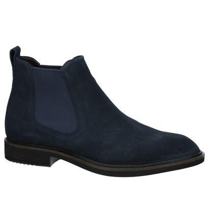 ECCO Vitrus II Donkerblauwe Chelsea Boots in daim (235747)