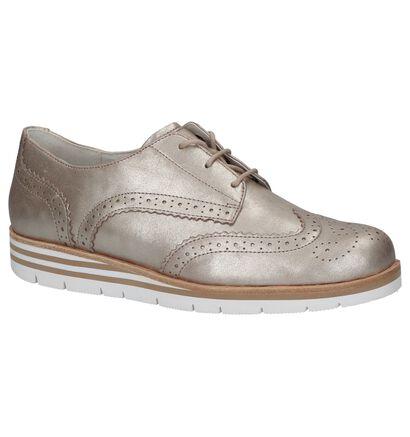 Gabor OptiFit Chaussures à lacets en Or rose en nubuck (216123)