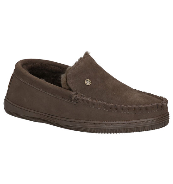 Warmbat Grizzly Taupe Pantoffels