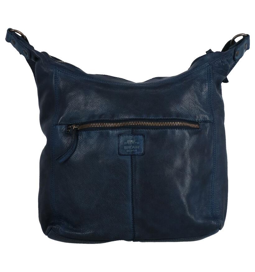 Bear Design Sac porté croisé en Noir en cuir (284275)