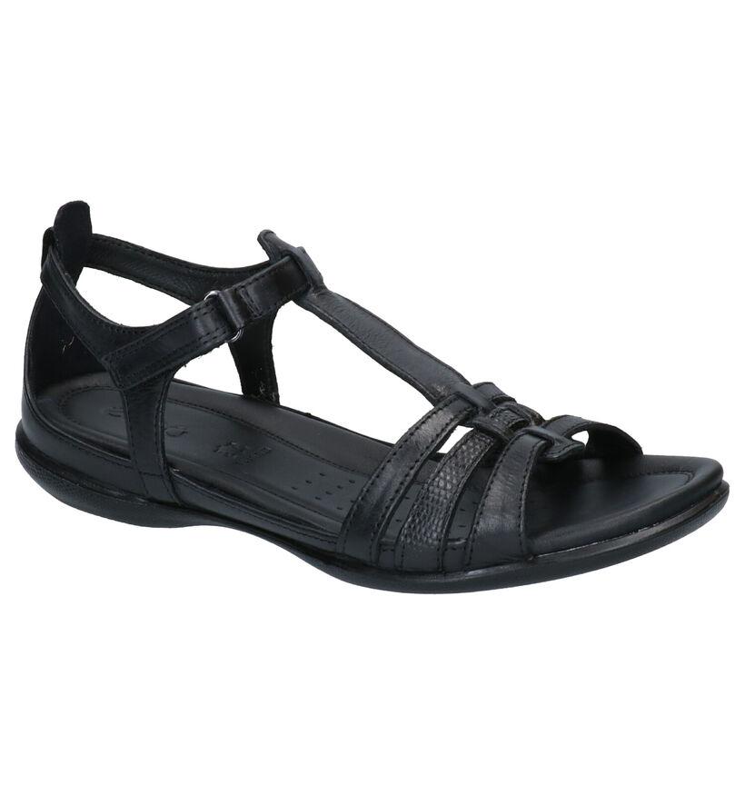 Ecco Flash Sandales en Noir en cuir (269694)